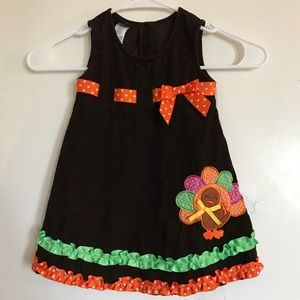 Holiday Editions Thanksgiving corduroy dress (24m)